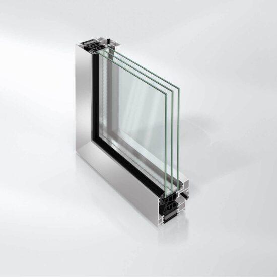 Blokkvindussystem Schüco AWS 75 BS.SI+