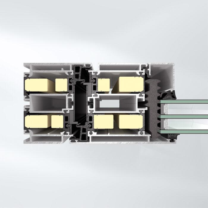Superisoleret dørsystem Schüco ADS 90.SI