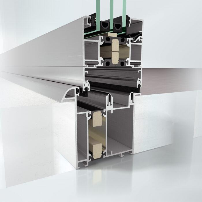 Høyisolert foldedør Schüco ASS 80 FD.HI