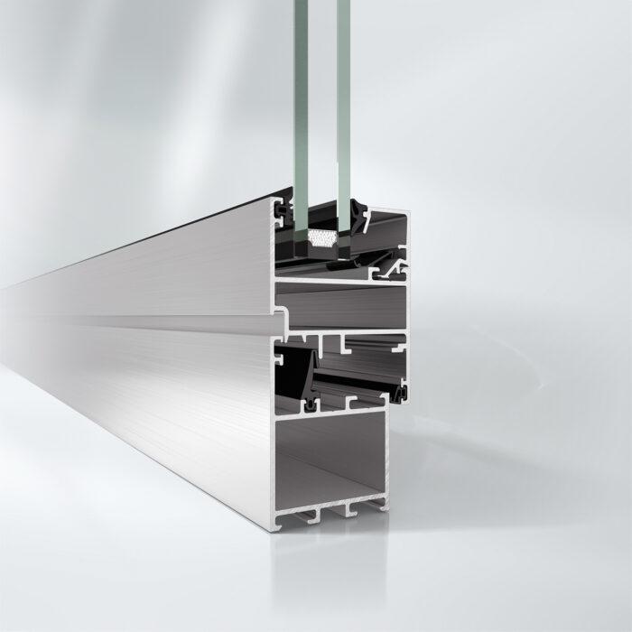 Uisoleret vindue Schüco AWS 50.NI for indvendig anvendelse