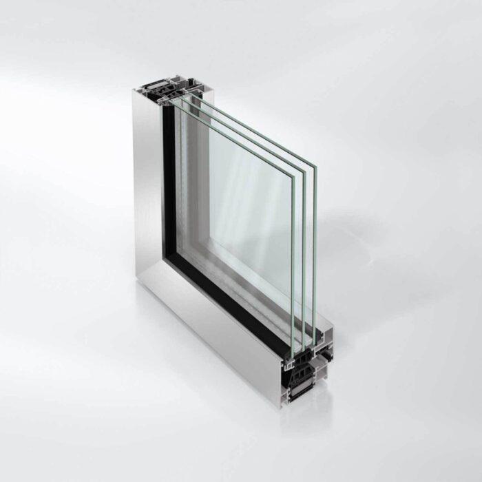 Blokkvindussystem Schüco AWS 75 BS.HI+