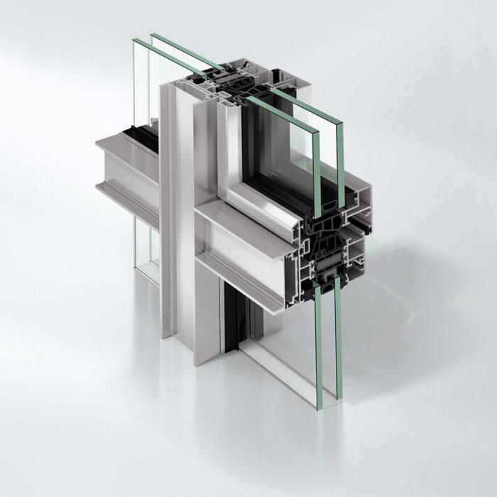 Superisoleret vindusfasadesystem AWS 75 WF.SI+