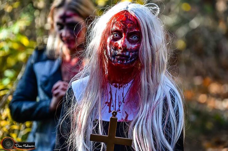 Mooi geschminkte zombie 2