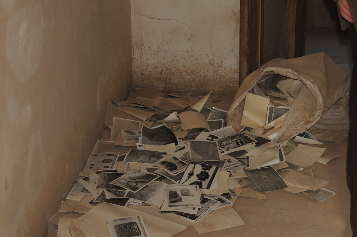 Abandoned photographs found in the historic Mustansiriya School building in old Baghdad, Courtesy Ruya Foundation