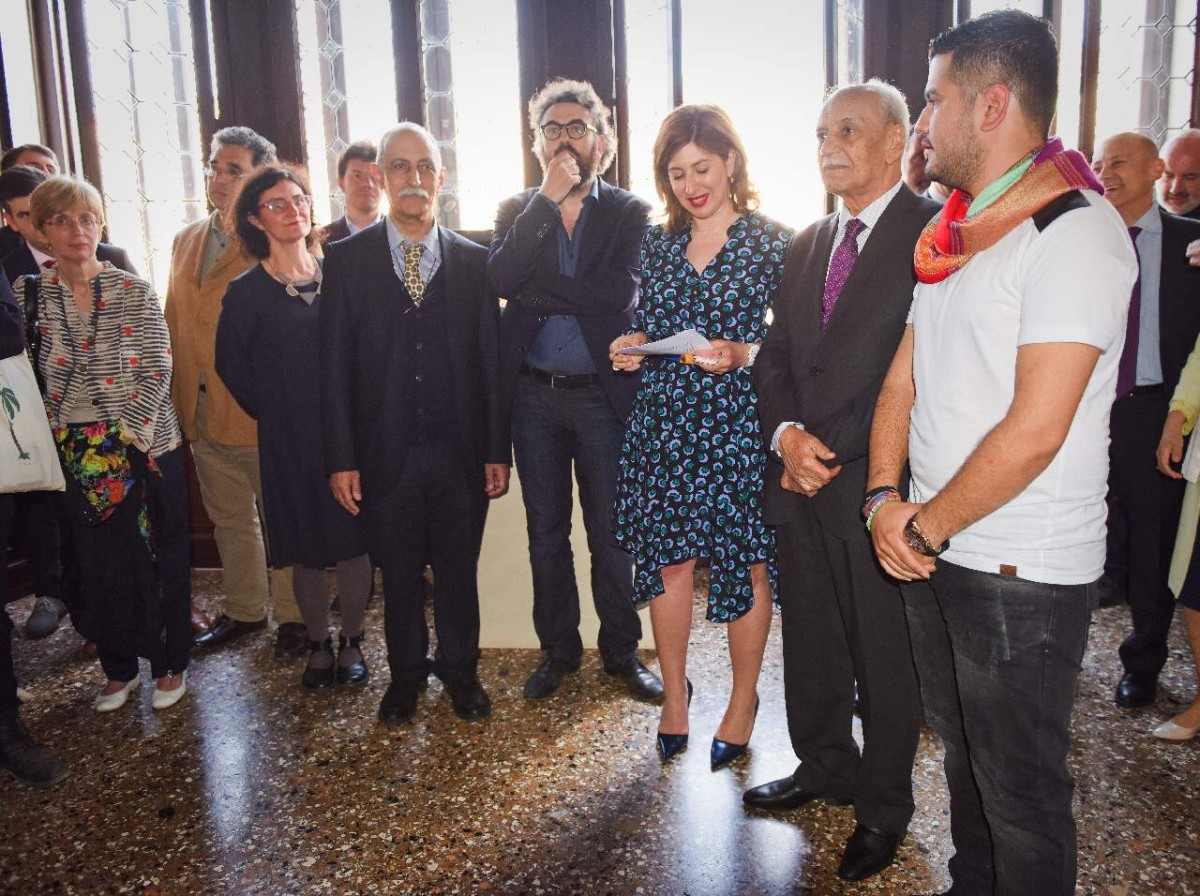 Ruya Foundation's chairman Tamara Chalabi inaugurates Iraq Pavilion at the 56th Venice Biennale. Photo: Ayman al Amiri. (c) Ruya Foundation