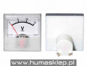 Woltomierz analogowy mini 15V