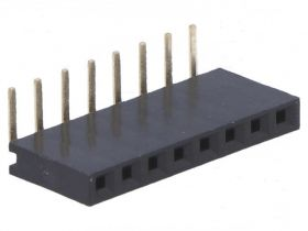 PS-08K Gniazdo PS do druku 8 pin (do listew PH 2.54), jednorzędowe, katowe