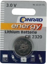 Bateria guzikowa, litowa Conrad Energy CR 2320, 3V, 120 mAh