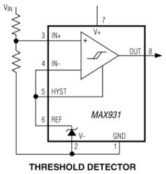 MAX934 Dual, Ultra-Low-Power, Low-Cost Comparator with 2%-Accurate Reference