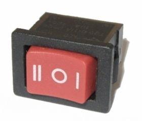 Przełącznik kołyskowy ON-OFF-ON czerwony