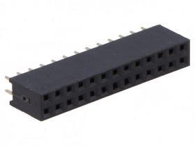 PS-D-26S Gniazdo PS do druku 2x13 pin (do listew PH 2.54), dwurzędowe, proste