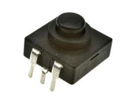 Przełącznik; przyciskowy; PB11D03; ON-OFF-ON; czarny; bez podświetlenia; przewlekany (THT); 3 pozycje; 1A; 30V DC; 5mm