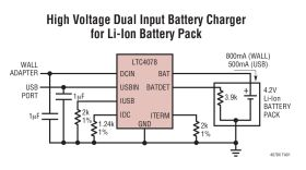 LTC4078/LTC4078X - Dual Input Li-Ion Battery Charger with Overvoltage Protection
