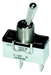 Przełącznik dźwigniowy APEM 6-631H/2, 6A