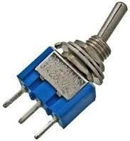 Przełącznik; dźwigniowy; MTS103; ON-OFF-ON; 1 tor; 3 pozycje; 3 piny; 3A; 250V AC; do lutowania; 02088; 01117; RoHS