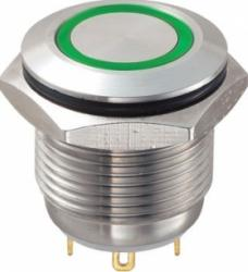 Przyciski z ochroną przed zniszczeniem 16 mm z pierścieniem oświetlającym
