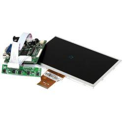 """Wyświetlacz 7"""" + kontroler VGA HDMI AV"""