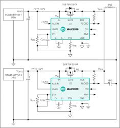 MAX5079 ORing MOSFET Controller with Ultra-Fast 200ns Turn Off