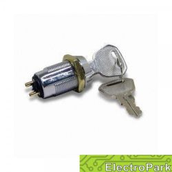 Przełącznik obrotowy z kluczykiem - metalowy