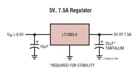 LT1085-Fixed - 3A, 5A, 7.5A Low Dropout Positive Fixed Regulators