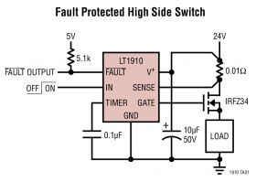 LT1910 - Protected High Side MOSFET Driver