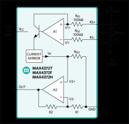 MAX4372 UCSP/SOT23, Micropower, Voltage-Output, High-Side, Current-Sense Amplifier