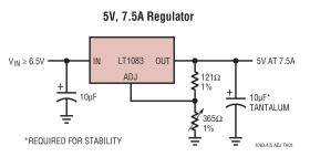LT1084 - 7.5A, 5A, 3A Low Dropout Positive Adjustable Regulators