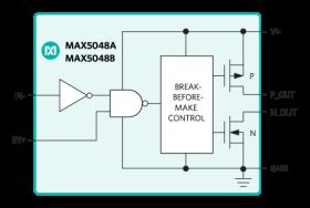 MAX5048B High-Speed, 7.6A, Single MOSFET Driver with TTL Input Logic Levels