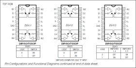 DG413 Improved, Quad SPST Analog Switch (2 NO, 2 NC)