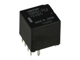 Przekaźnik; elektromagnetyczny miniaturowy; G8ND-2U; 12V; DC; 2 styki przełączne; 25A; 14V DC; do druku (PCB); Omron; RoHS