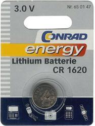 Bateria guzikowa, litowa Conrad Energy CR 1620, 3V, 60 mAh