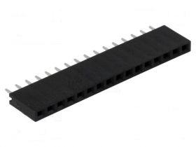 PS-16S Gniazdo PS do druku 16 pin (do listew PH 2.54) , jednorzędowe, proste