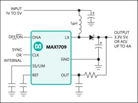 MAX1709 4A, Low-Noise, High-Frequency, Step-Up DC-DC Converter