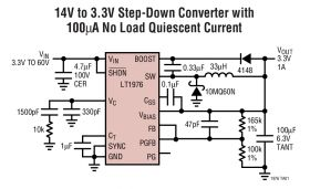 LT1976 LT1976B - High Voltage 1.5A, 200kHz Step-Down Switching Regulator with 100µA Quiescent Current