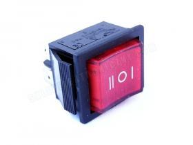 IRS-203 przełącznik kołyskowy 3 pozycyjny podświetlany 15A 230V
