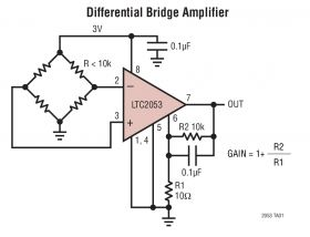 LTC2053 - Precision, Rail-to-Rail, Zero-Drift, Resistor-Programmable Instrumentation Amplifier