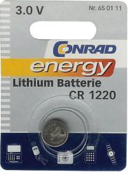 Bateria guzikowa, litowa Conrad Energy CR 1220, 3V, 30 mAh