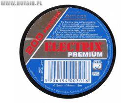 Taśma ELECTRIX 200 PREMIUM PCW 19mmx18m BK