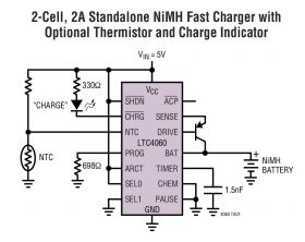 LTC4060 - Standalone Linear NiMH/NiCd Fast Battery Charger