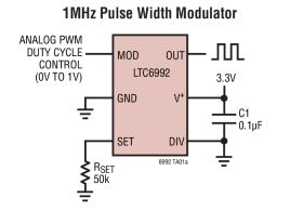 LTC6992 - TimerBlox: Voltage-Controlled Pulse Width Modulator (PWM)