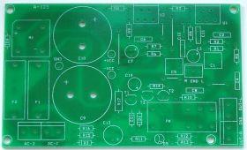 A-125_PCB. Płytka PCB końcówki mocy stereo z układami LM1875 lub TDA2050