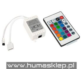 Sterownik do taśm LED RGB 24 funkcyjny - podczerwień.