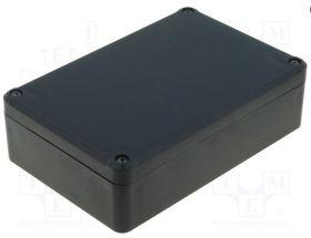 KM-76 Obudowa z tworzywa KM76 wymiary: 120x80x36mm - pełna - hermetyczna - czarna - ABS