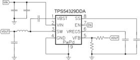 TPS54329 - 4.5V to 18V Input, 3A Synchronous Step-Down Converter with D-CAP2 Mode