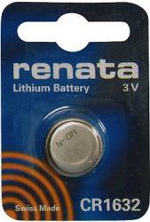 Bateria guzikowa, litowa Renata CR 1632, 3V, 125 mAh