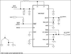 MAX5093 4V to 72V Input LDOs with Boost Preregulator