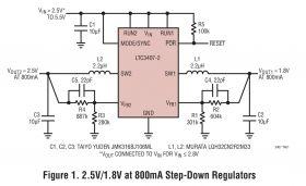 LTC3407-2 - Dual Synchronous, 800mA, 2.25MHz Step-Down DC/DC Regulator