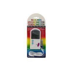 Termometr 02666 IN/OUT -50-+60C higrometr,odczyt Max/Min temp wilgotność