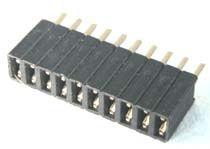 PS127-10S Gniazdo PS do druku 1x10 pin (do listew PH 1.27), jednorzędowe