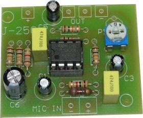 KIT6250 Przedwzmacniacz do mikrofonu elektretowego (Kompletny zestaw) J-250